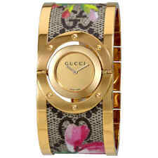 Gucci Twirl Bloom Gold Twirling  Dial Gold-plated and Floral Ladies Watch