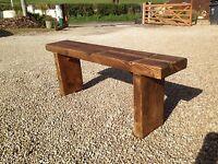 Chunky Garden Bench. Please read the item Description.