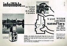 J- Publicité Advertising 1960 Appareil photo Semflex SEM