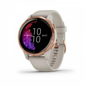 Garmin Venu Light Sand AMOLED GPS Watch with Rose Gold Hardware 010-02173-21