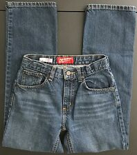 Sz 14 Slim Original Straight Arizona Jean Co. Girls Blue Denim Jeans(UBWABJ)
