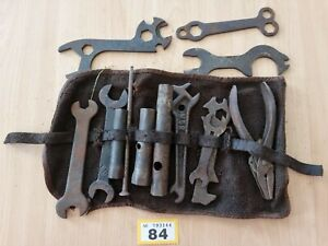 Vintage Set Of Old Car/Bike Tools, Spanners Wrenches pliers