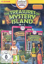 PC CD-ROM + The Treasures of Mystery Island + Vol 1-3 + Wimmelbild + Win 8