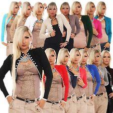 10106 Feinstrick-Bolero Kurze Jacke Jäckchen Strickjacke 15 Farben