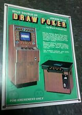 Merit DRAW POKER flyer- good original