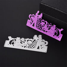 Couple de mariage Embossing Metal Cutting Dies Pochoirs Scrapbooking Lolder Q9F
