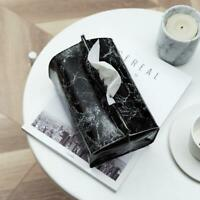 Marble Tissue Box Case Pouch Leather Home Car Napkin Paper Towel Container