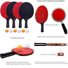 Easy-Room Table Tennis 4 Bats, Pingpong Racket Set With 4 Bats And 6 Balls
