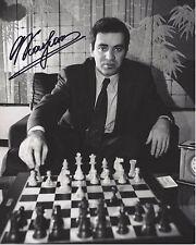 CHESS WORLD CHAMPION RUSSIAN LEGEND GARRY KASPAROV SIGNED 8X10 PHOTO 2 COA PROOF