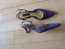 Señoras Jacques Vert zapatos talla 37 4 Reino Unido Púrpura Lila Pequeño Talón