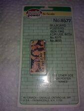 Model Power N Scale 8577 Billboard 1924-1940