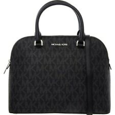 MICHAEL KORS Black Leather Cindy Grab Bag RRP £305 / LOGO BONDED / NEW WITH TAGS