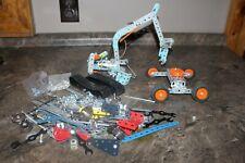 Meccano Bundle Excavator Parts and Pieces Vehicle Parts Tires Building Toy