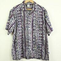 Vintage 90s OP Ocean Pacific Hawaiian Shirt Camp Aloha Tiki Button Surf Skate M