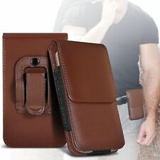 Brown✔Quality Excellent Protection Vertical Belt Phone Pouch Case Cover