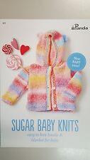 Panda Knitting Pattern #812 Sugar Baby Hoodie & Baby Blanket to Knit