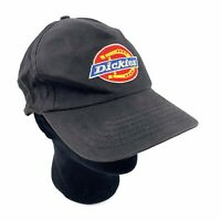 Vtg DICKIES Mens Black Embroidered Patch Horseshoe Snapback Hat Cap 80s 90s