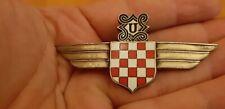 Croatian pilot badge Croatia air wings with checkers and a pin