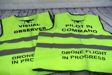 Safety Vest Drone Part 107 Faa Pilot on Command / Visual Observer