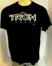 Tron Legacy Disney 2010 Movie Promo Shirt Rare Disc Daft Punk Black X-Large