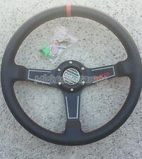 New Sparco Steering Wheel Sports Racing 340mm Deep Dish w/Horn Leather Unifit