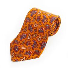 Brooks Brothers Brown Ancient Madder Paisley Print Tie 12957