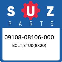 09108-08106-000 Suzuki Bolt,stud(8x20) 0910808106000, New Genuine OEM Part