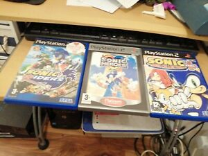 PS2 SONIC COLLECTION X 3 GAMES HEROES RIDERS MEGA COLLECTION + FREEPOST