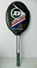 John McEnroe Dunlop Autograph Wooden Tennis Racquet Original Cover Vintage EUC