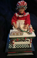 1993 Holiday Creations Christmas Musical Mrs.Santa Claus Baking Cookies Animated