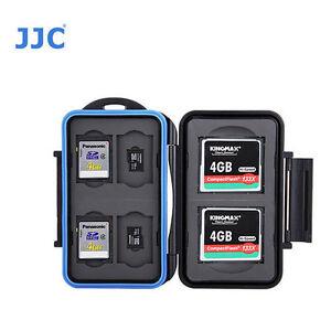 JJC MC-STC10 Memory Card Case fits 2 CF 4 SD 4 MSD Storage camera D810 7DII 6D