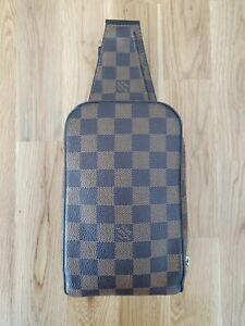 Authentic LOUIS VUITTON Geronimos Damier Ebene Sling/Waist Bag AuthenticateFirst
