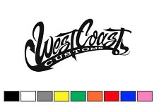 coppia adesivi WEST COAST 13x6,5cm auto moto decal sticker racing tuning adesivo