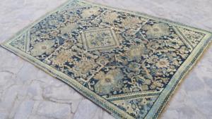 Pale Turkish Rug, Distressed Oushak Rug, Anatolian Carpet, Handmade Organic Over