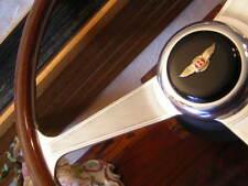 "Bentley Corniche 1971 - 1989  Wood Steering Wheel engraved spokes Nardi 15"" New"