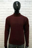 GAS Uomo Maglione Taglia M Pullover Cardigan Maglia Sweater Lana Vergine Man