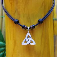 Lederkette Surferkette Halskette Herren Damen Surferhalskette Herrenkette Neu