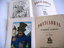 PONTCARRAL albéric Cahuet compositions guy Arnoux 1946