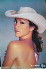 """JENNIFER LOPEZ """"SEXY, BARE-BACKED WEARING ONLY A COWBOY HAT"""" ASIAN MUSIC POSTER"""