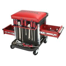 Craftsman Garage Glider Sliding Rolling Portable Tool Chest Seat Stool 2 drawers