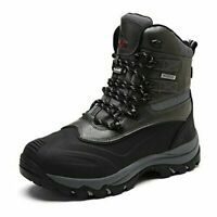 Men's Insulated Waterproof Lace Up Winter Cold-weather Snow Outdoor Hiking Boots