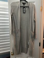 Banana Republic Long Cardigan Duster Sweater Black Beige New With Tags