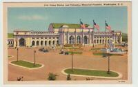 Unused Postcard Union Station and Columbus Memorial Fountain Washington DC