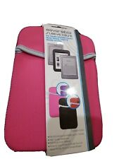 """Reversible Neoprene Sleeve Case For KINDLE 4,TOUCH, NOOK up to 7""""  PINK /PURPLE"""