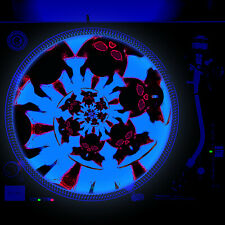 Dj Turntable Slipmat 12 inch Glow under Blacklight - Devil Hell