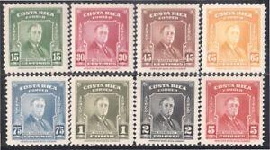 Costa Rica A- 157/64 1947 Roosevelt President MNH