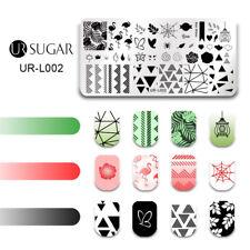 UR SUGAR Nail Art Stamping Plates Tropical Plants   Templates