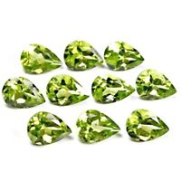 Wholesale Lot 8x6mm, 9x7mm & 10x7mm Pear Facet Peridot Loose Calibrated Gemstone