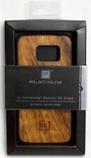 NEW Platinum Galaxy S6 Edge Real NATURAL WOOD Phone Case Brown Modern samsung