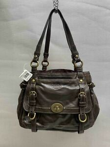 COACH Legacy Garcia Brown Leather Shoulder Tote Handbag 12705 NWT